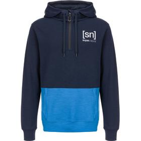 super.natural Movement Half Zip Shirt Herre navy blazer/vallarta blue